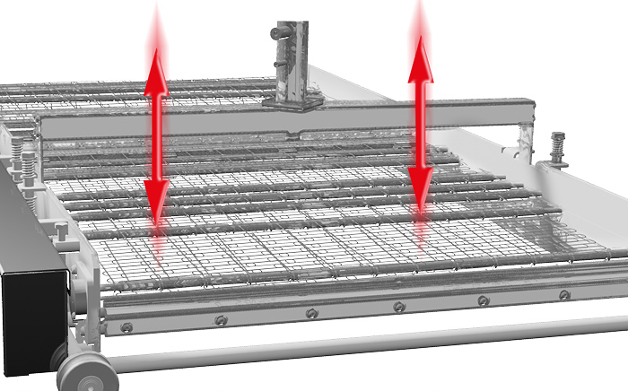 Wire-mesh vibration (shaking system)